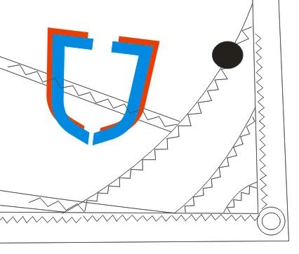 J-Sail Opti Segel BLACK