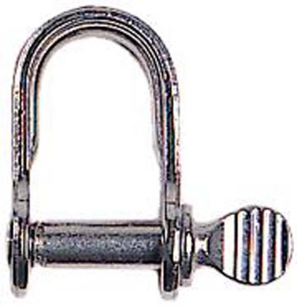 Edelstahl Schäkel mit Schraubbolzen 4 mm