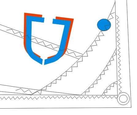 J-Sail Opti Segel BLUE