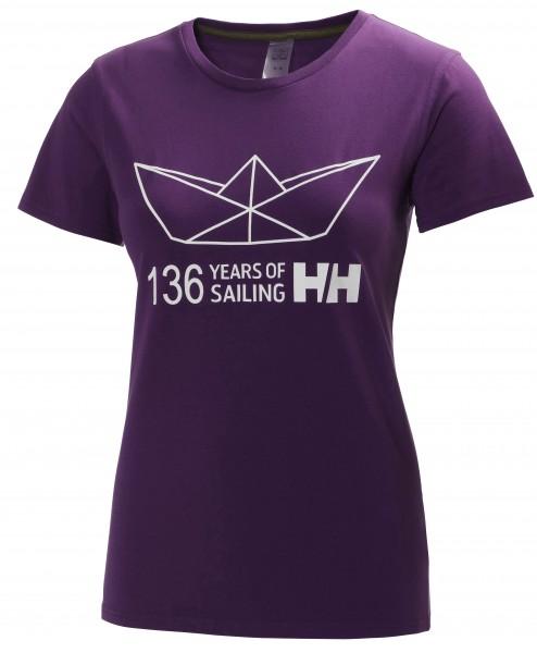 W Graphic SS T-Shirt Purple Helly Hansen