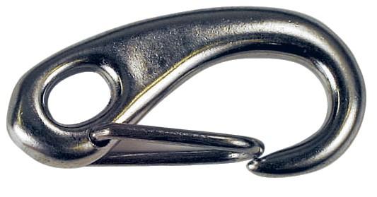 Karabinerhaken m. eiförmigen geschlossenem Auge 50mm