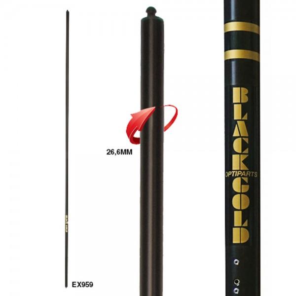 Optiparts BLACKLITE 26,6mm Sprit - für leichte Segler